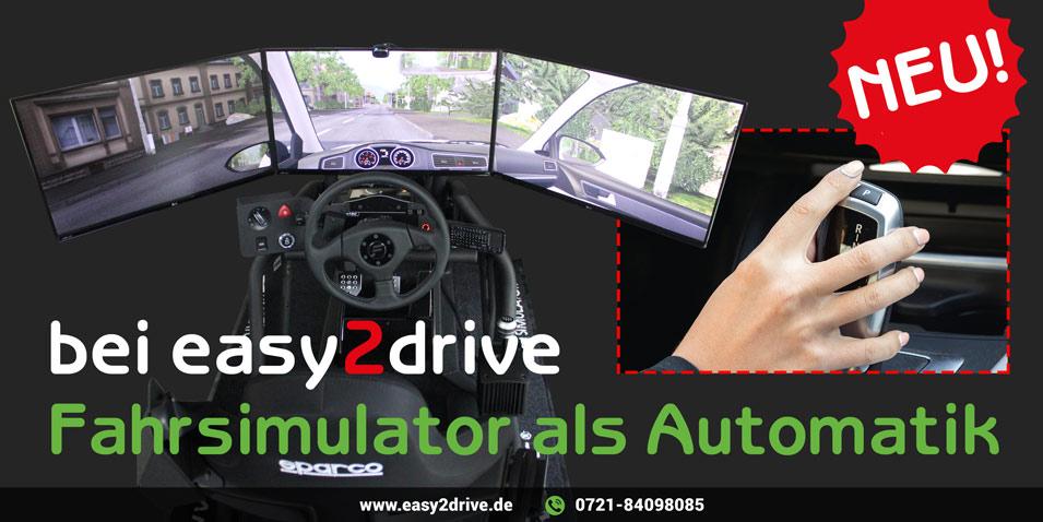 Fahrsimulator PKW Automatik Fahrschule Rüppurr